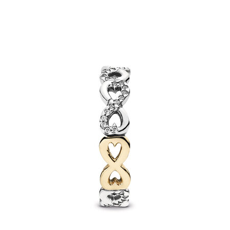 Infinite Love Stackable Ring, Clear CZ