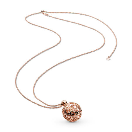 Harmonious Hearts Chime Necklace, PANDORA Rose™