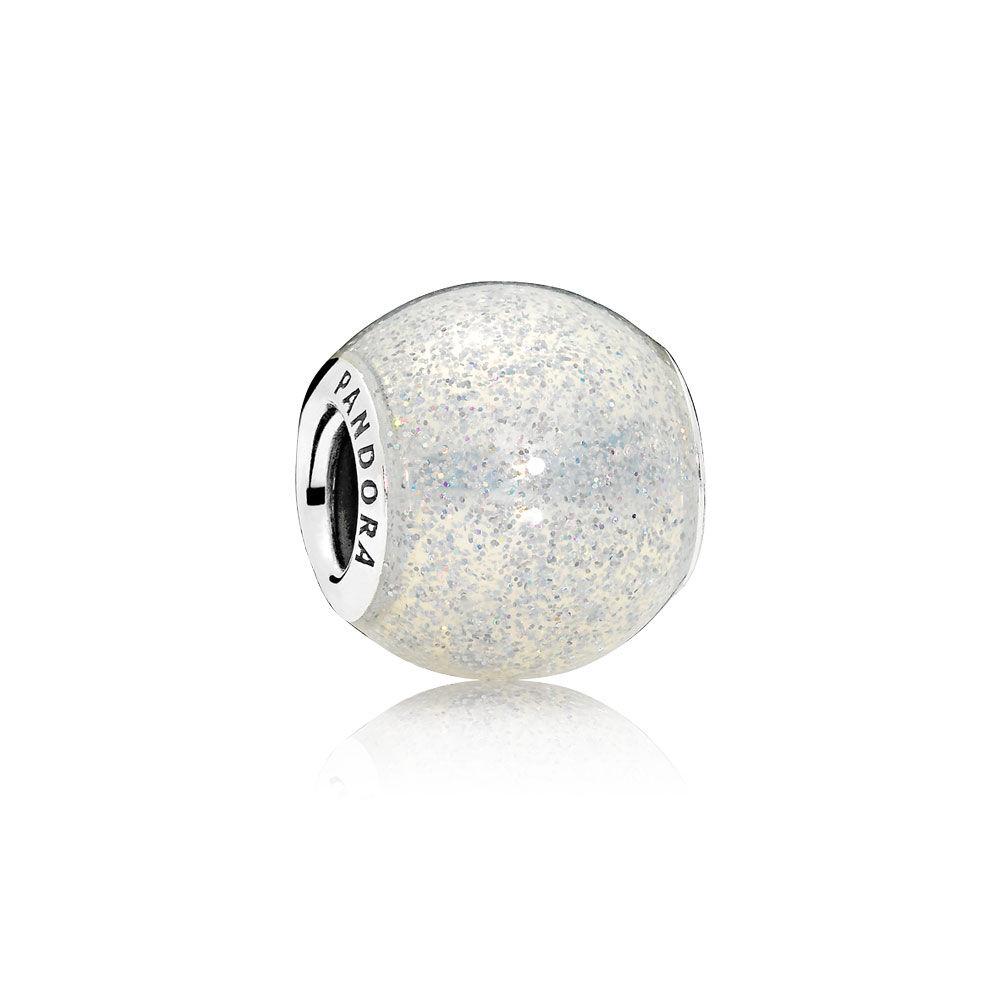 55d339126 spain pink sparkling heart silver charm pandora 0d247 c43ca; authentic  glitter ball charm silvery glitter enamel 3c602 a083f