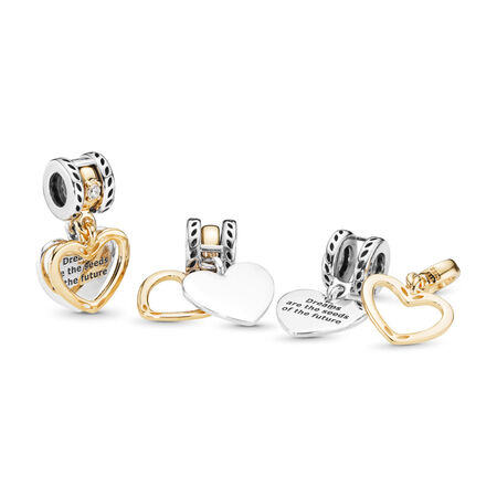 Seeds of the Future Dangle Charm, Clear CZ, PANDORA Shine and sterling silver, Cubic Zirconia - PANDORA - #767623CZ