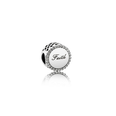 Faith Cross Charm, Sterling silver, Cubic Zirconia - PANDORA - #ENG792016CZ_2