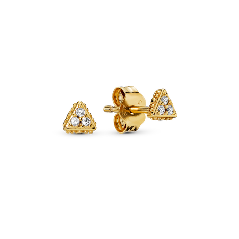 Sparkling Triangle Stud Earrings