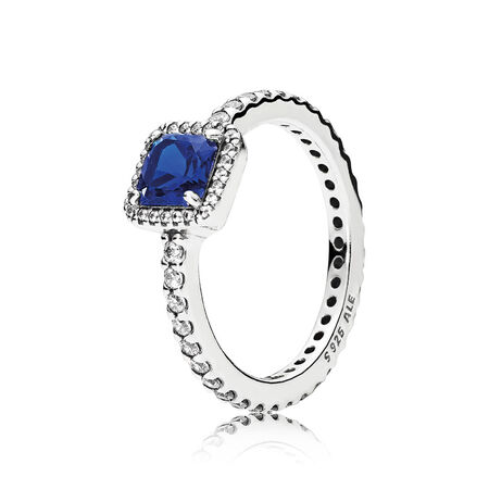 Timeless Elegance, True Blue Crystal & Clear CZ
