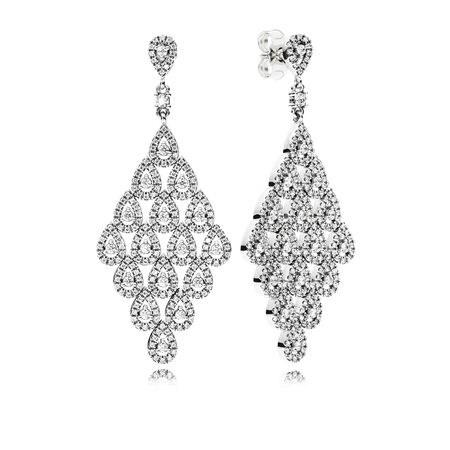 Cascading Glamour Limited Edition Earrings, Clear CZ