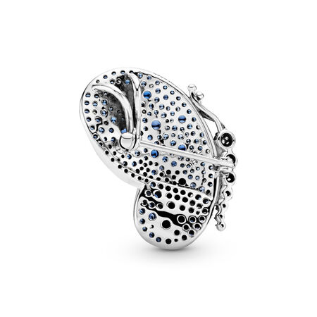 Dazzling Blue Butterfly Pendant, Sterling silver, Blue, Mixed stones - PANDORA - #697996NCB