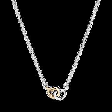Interlocked Hearts Collier Necklace