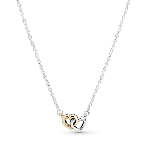 Interlocked Hearts Collier Necklace