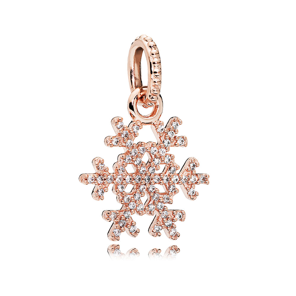 Sparkling snowflake pendant pandora rose clear cz pandora sparkling snowflake pendant pandora rose clear cz aloadofball Image collections