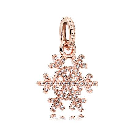 Sparkling Snowflake Pendant Pandora Rose Amp Clear Cz