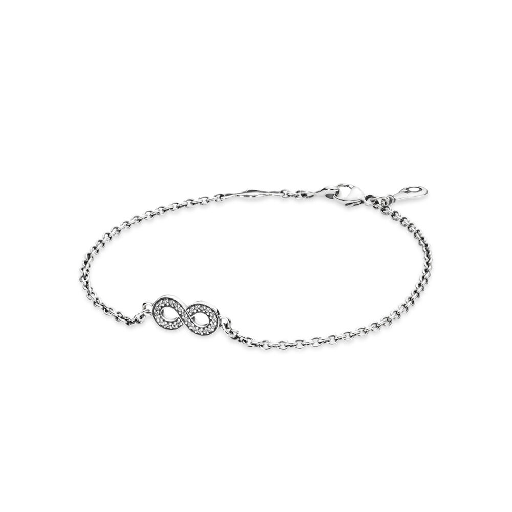 b09e27038 Symbol of Infinity Bracelet, Clear CZ, Sterling silver, Cubic Zirconia -  PANDORA -