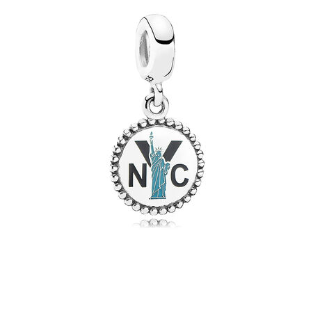 Statue of Liberty Dangle Charm, Mixed Enamel, Sterling silver - PANDORA - #ENG791169_6