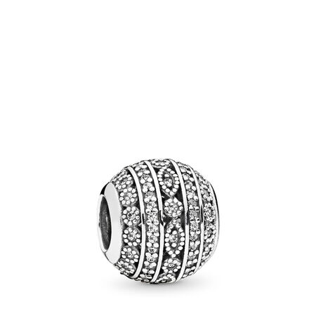Glittering Shapes Charm, Clear CZ