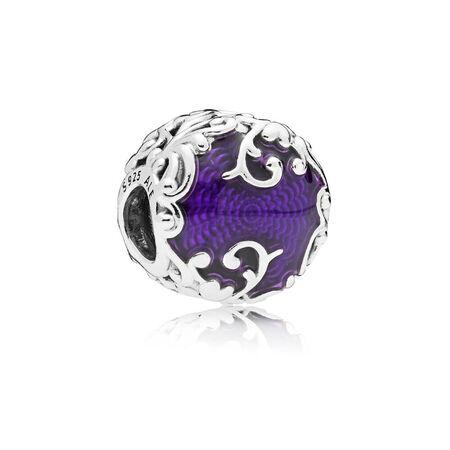 Regal Beauty Charm, Purple Enamel