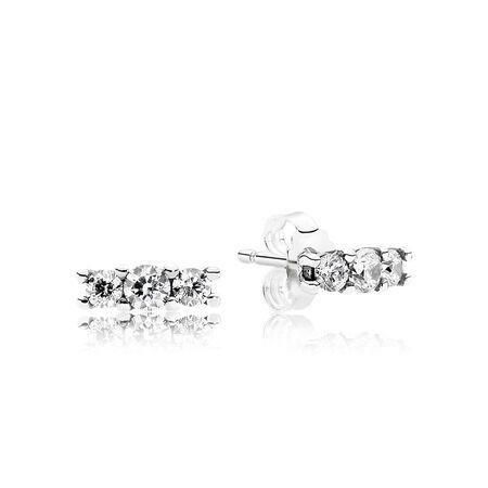 Sparkling Elegance Stud Earrings, Clear CZ