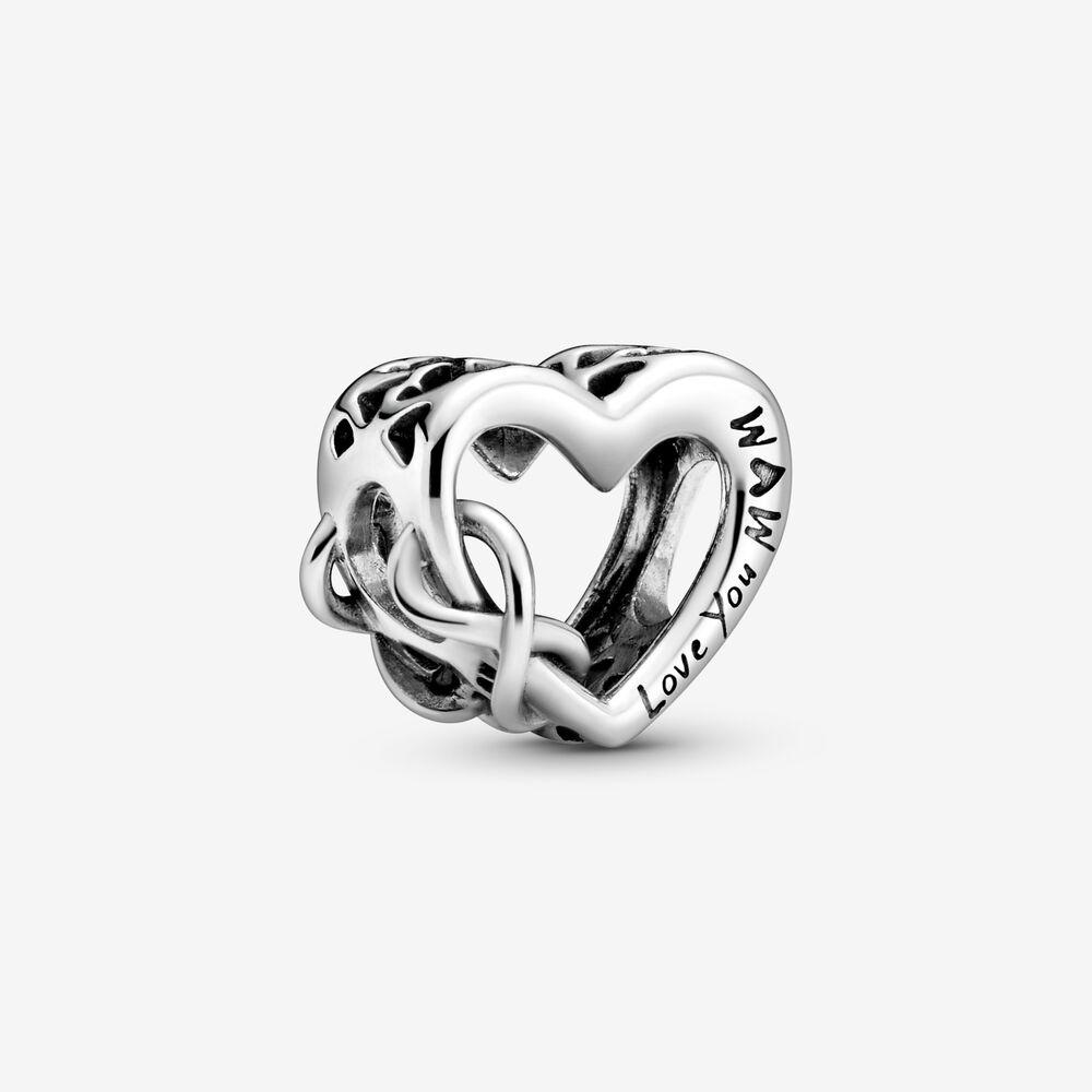 Love You Mum Infinity Heart Charm   Sterling silver   Pandora US