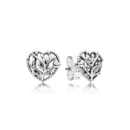 Earrings hand finished jewelry for her pandora jewelry us flourishing hearts stud earrings mightylinksfo