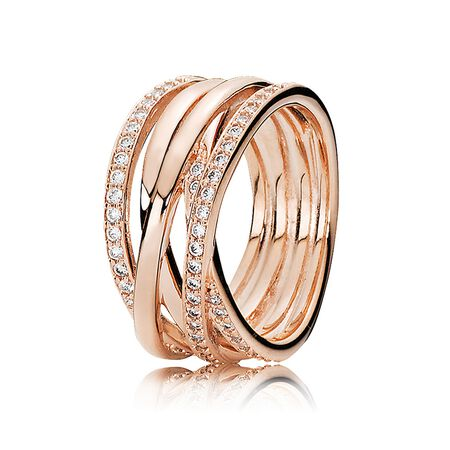 Entwined Ring, PANDORA Rose™ & Clear CZ