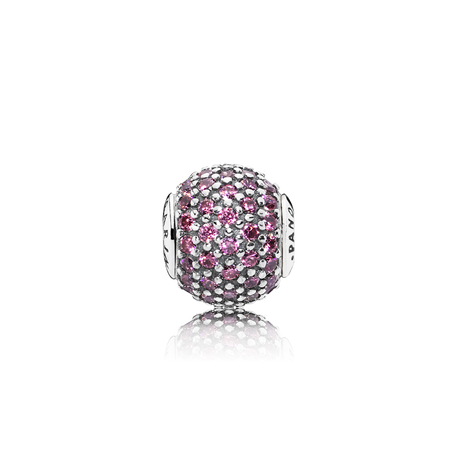 CARING Charm, Pink CZ