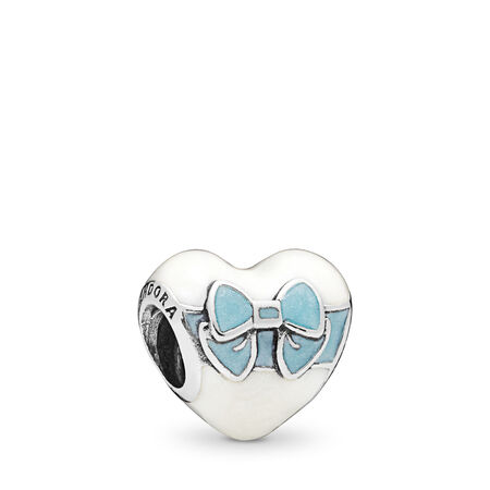 White Day Love Charm, Mixed Enamel