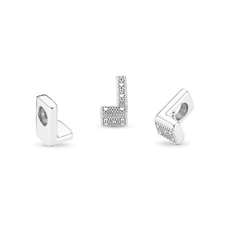 Letter L Charm, Sterling silver - PANDORA - #797466