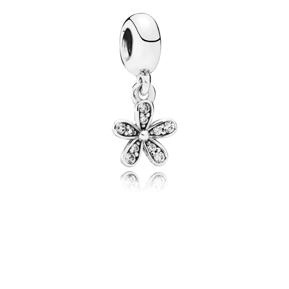 Dazzling Daisy Dangle Charm Clear Cz Pandora Jewelry Us