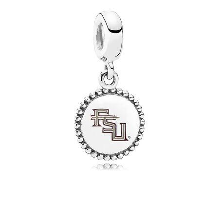 Florida State University Dangle Charm, Mixed Enamel, Sterling Silver, Garnet - PANDORA - #ENG791169_66