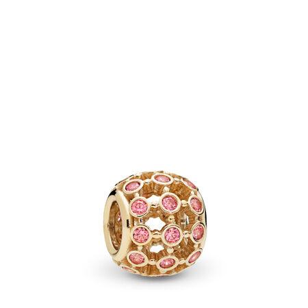 In the Spotlight Openwork Charm, 14K Gold & Fancy Pink CZ