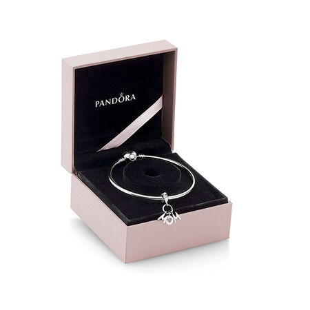 Perfect Mom Bangle Gift Set, Pink & Liliac Crystals