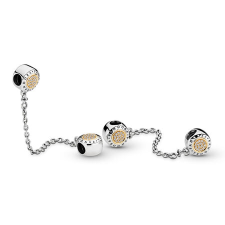 PANDORA Signature Safety Chain, Clear CZ