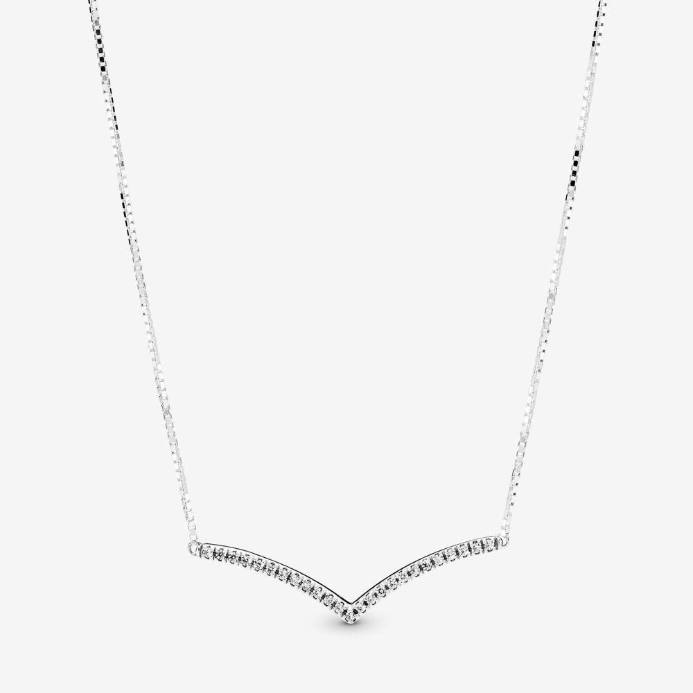 Shimmering Wish Necklace In Silver Silver Pandora Us