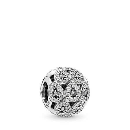 Cascading Glamour Charm, Clear CZ, Sterling silver, Cubic Zirconia - PANDORA - #796271CZ