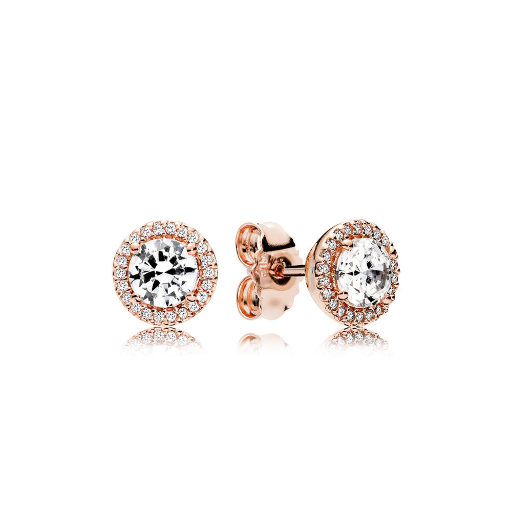 Clic Elegance Stud Earrings Pandora Rose
