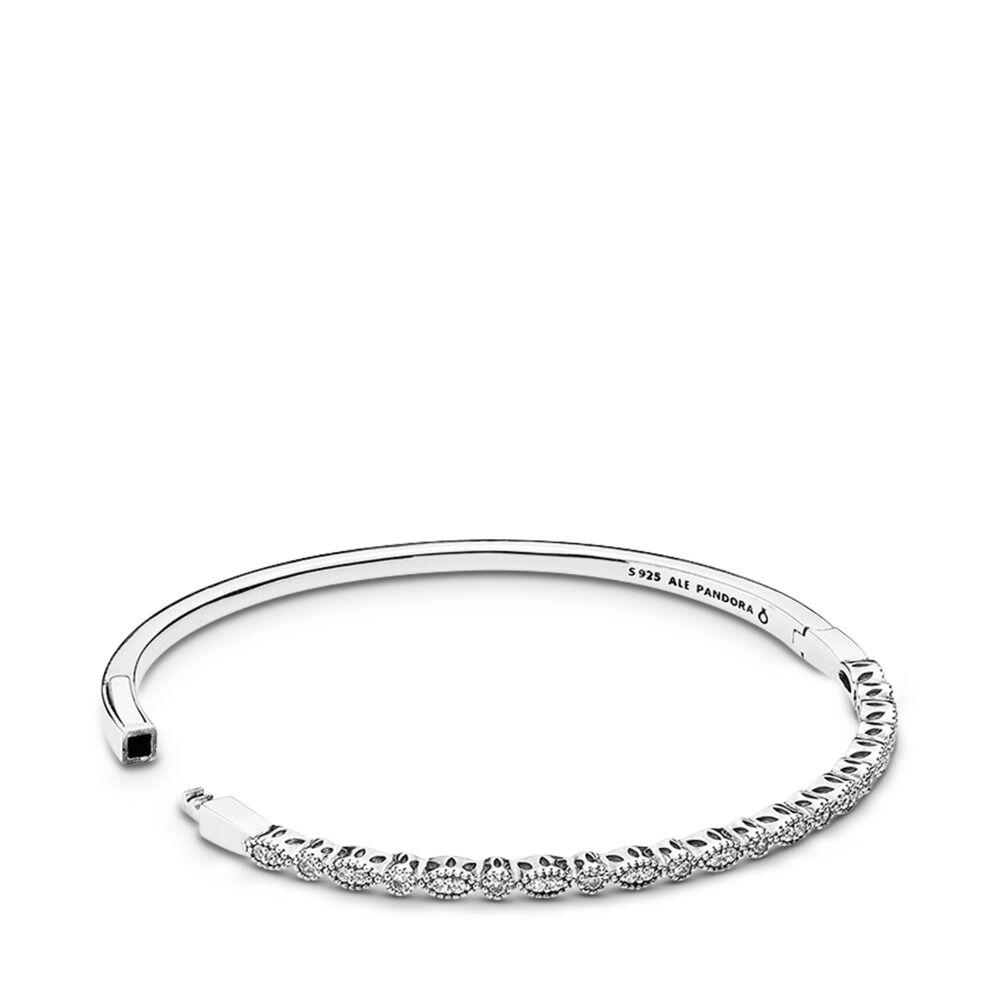 a1581718c Timeless Elegance Bangle, Clear CZ, Sterling silver, Cubic Zirconia -  PANDORA - #