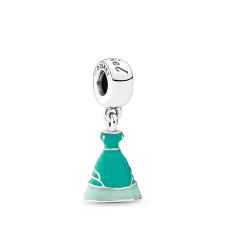 Disney, Ariel's Dress Dangle Charm, Mixed Enamel, Sterling silver, Enamel, Green - PANDORA - #791577ENMX