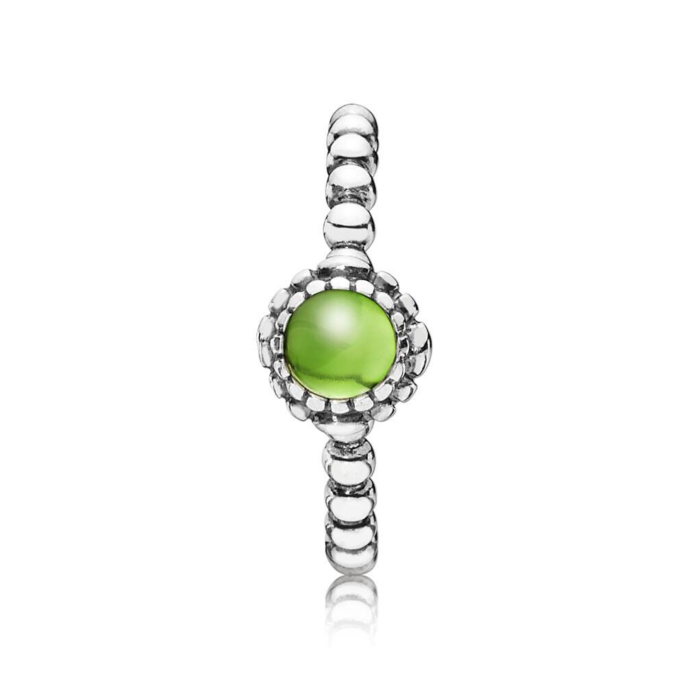 ddacfe47c Birthday Blooms Ring, August, Peridot, Sterling silver, Green, Peridot -  PANDORA
