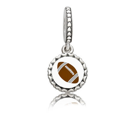 Football Dangle Charm, Mixed Enamel