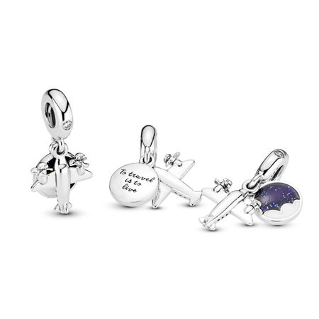Propeller Plane Dangle Charm