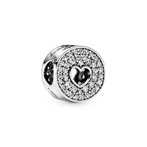 Pavé and Heart Anniversary Charm