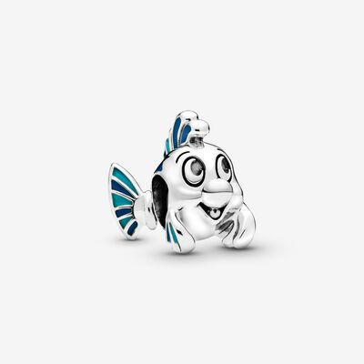 Disney The Little Mermaid Flounder Charm , Silver