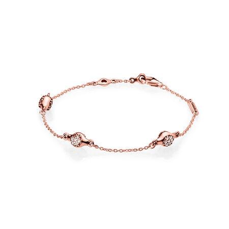 Modern LovePods™ Bracelet, PANDORA Rose™ & Clear CZ