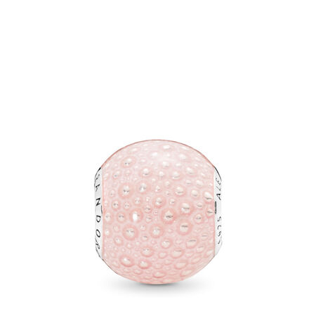 Pink Enchantment Charm, Transparent Pink Enamel