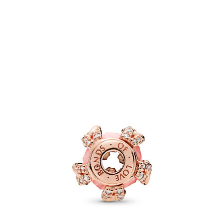 BONDS OF LOVE, PANDORA Rose™, Blush Pink Crystal & Clear CZ, PANDORA Rose, Silicone, Pink, Mixed stones - PANDORA - #787279NBP