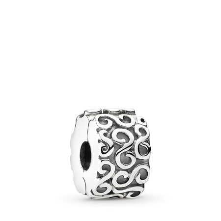 S Clip, Sterling silver - PANDORA - #790338