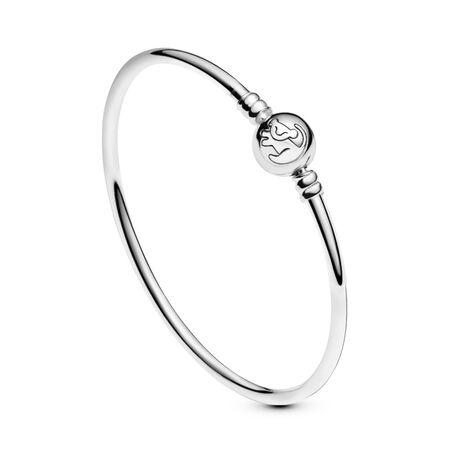 Disney, The Lion King Bangle Bracelet, Sterling silver, Cubic Zirconia - PANDORA - #598047CCZ