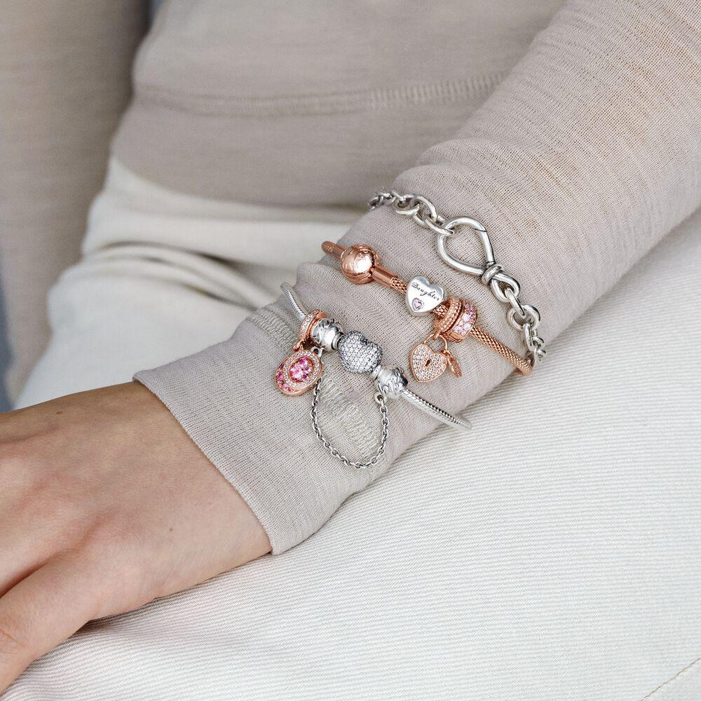 Pandora Moments Mesh Bracelet   Rose gold plated   Pandora US