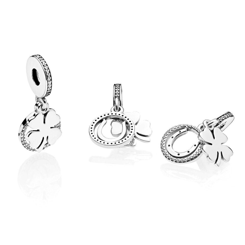 Lucky day dangle charm clear cz pandora jewelry us buycottarizona Image collections
