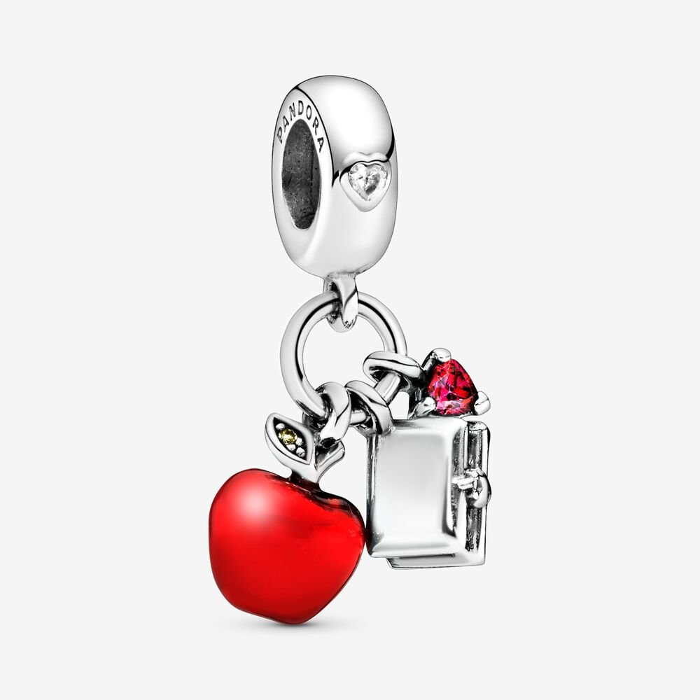 Disney, Snow White's Apple & Heart Dangle Charm, Red