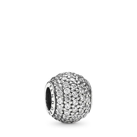 871a2f081 Pavé Lights Charm, Clear CZ Sterling silver, Cubic Zirconia