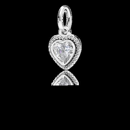 Sparkling Love Pendant, Clear CZ