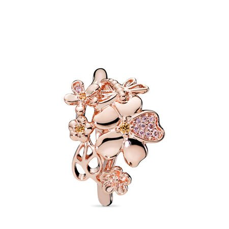 Wildflower Meadow Ring, PANDORA Rose™ & Blush Pink Crystal